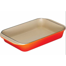 Esmalte de hierro fundido Rectangle Dish Pan