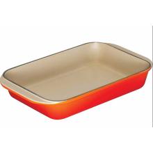 Panela de prato de esmalte de ferro fundido opcional com diferentes cores
