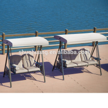 Metal frame hanging chair outdoor two three seat swing chairs
