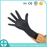 Latex free examination glove disposable black nitrile gloves