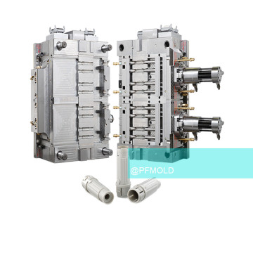 Multi-cavity plastic connector injection mold