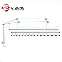 Buena calidad balcón montado en el techo ropa de elevación secadora