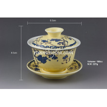 """Sowbread Flower"" Yellow Glaze Porcelain Gaiwan"