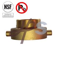Instalación de manguera de fuego de latón certificada NSF