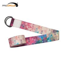 Benutzerdefinierte Druck Yoga Stretch Straps Polyester Yoga Strap