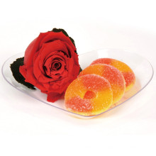 Plastic Plate Disposable Tray Heart Shaped Plate