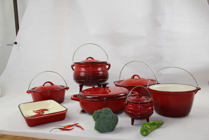 Cast Iron Cookware 12PCS Enamel Set