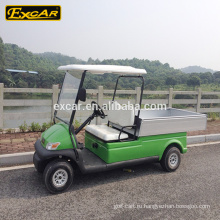 Excar утилита зеленый электрическая тележка 48В 2 места тележки гольфа с грузовой ящик