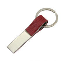 Promocionais ligas de zinco couro Keyholder com logotipo personalizado (F1049C)