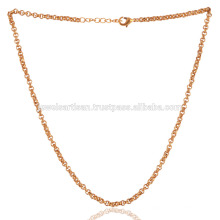 18 Zoll Gold Vermeil Plain Messing Kette Für Einfache & Fashion Schmuck