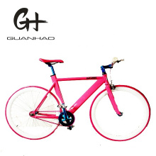 700c Ce Matte Black Bullhorn Bar Aluminium Single Speed Track Fixed Gear Bike