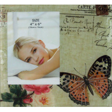 Butterfly Glass Photo Frame