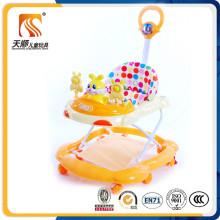 Type de marcheur de bébé et matériel de polyester Marcheur d'enfant avec la barre de poussée