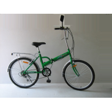 """Bicicleta plegable de acero de 24 """"y 6 velocidades (FP246)"""