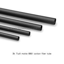 Peso leve de fibra de carbono tubo de sarja 3K tecer