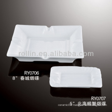 Porcelain ashtray,square ashtray for hotel lobby
