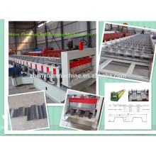 Automatische Farbe Stahl Boden Decking Roll Forming Machine / Walze Maschine