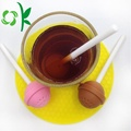 Färgglada Lollipop Design Silicone Tea Bag Spice Infuser
