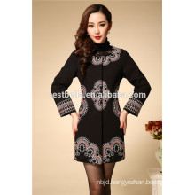 2016 new fashion Europe and America autumn winter women coat embroidered women overcoat