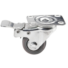 PU Light Duty Rotating Caster Ball Bearing Casteri Wtih Brake