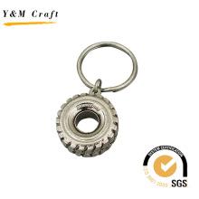 Llanta de metal de fábrica / llavero de forma de rueda (Y03931)