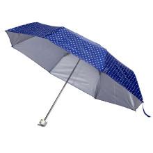 Manueller offener silberner Beschichtungs-Druck-Falten-Regenschirm (JY-248)