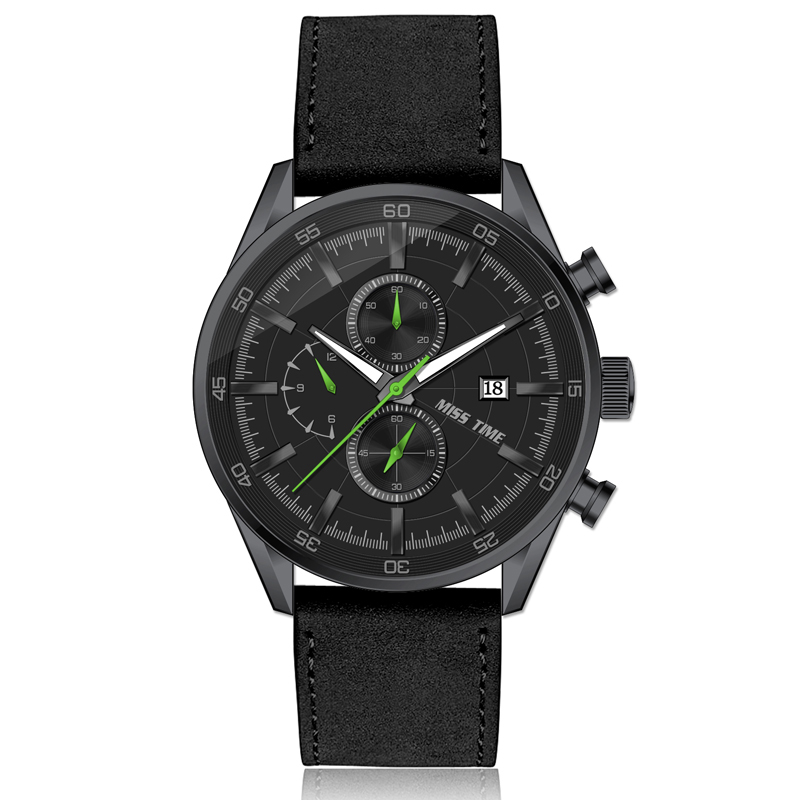 5atm Waterproof Watches Chronograph Men