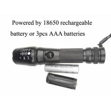 900 lúmenes Xm-L T6 recargable 18650 luz de flash de batería
