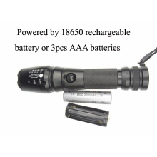 900 Lumens Xm-L T6 Rechargeable 18650 Battery Flash Light