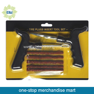 Bicycle Tire Repair Plugs Insert Tool Set