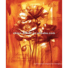 New Style Paintings Abstract Flowers On Canvas