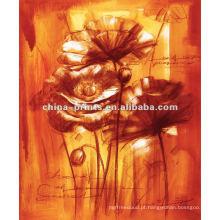 Pinturas novas do estilo Flores abstratas na lona