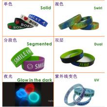 Silicona OEM Wristband con varios estilos de producción