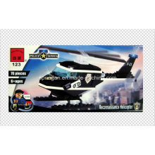 Police Series Designer Patrol Helicopter 76PCS Block Toys