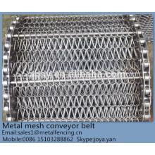 Équilibre composé acide-base résistant à la congélation rapide industrie alimentaire utilisé treillis métallique armure ceinture de convoyeur