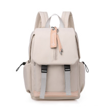Fashion Oxford Backpack Women′s Casual Large Capacity Junior and High School Student School Bag Simple Travel Bag