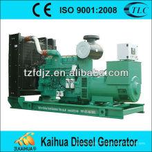 Générateur diesel ouvert du type CUMMINS refroidi à l'eau 500KW