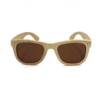 marca de cores óculos de sol de bambu luz polarizada para homens