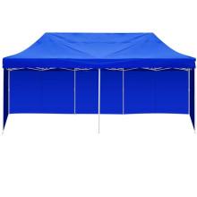 3m X 6m Blue Folding fachada ao ar livre Gazebo