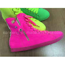 Bright Color Lycra Soft High-Top Casual Shoe