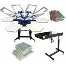 TM-R6 Manual 6-Color Rotary Garment / T-Shirt Screen Printing Machine