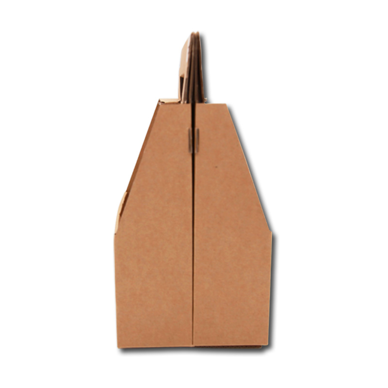 Brown packing handle boxes