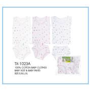 100% cotton infant apparel/baby clothes
