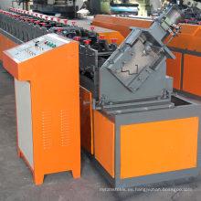 Auto automático de muescas de seguridad de acero galvanizado de acero galvanizado marco de puerta de seguridad de metal rollo de estantería que forma la máquina