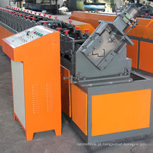 Automático auto entalhamento de segurança de fogo de aço galvanizado de alumínio metal frame da porta de segurança racking rolo formando máquina