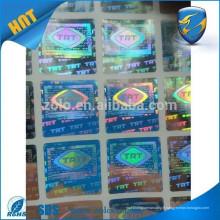 Anti-contrefaçon label / hologramme 10ml flacon étiquette hologramme