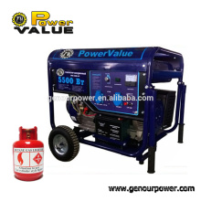 5kva natural gas powered portable engine generators, small gas genset with low price