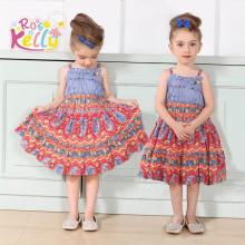 Spaghetti Strap Latest Dress Designs for Kids (9167#)