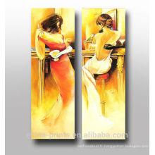 Peinture à l'huile peinture abstraite à la main illustrée à la main