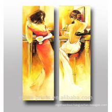 Group Handpainted Abstract Figure Oil Painting on Canvas